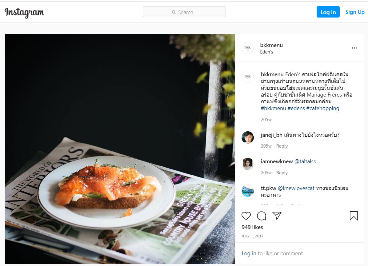 promoting through social media like Instagram and Facebook